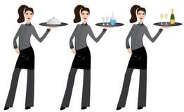 Kelnerka Obrazy Royalty Free