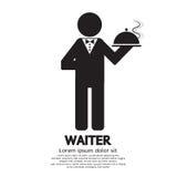 kelnerka royalty ilustracja