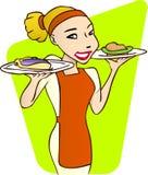 kelnerka ilustracja wektor