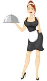 Kelnerka przynosi rozkaz ilustracji