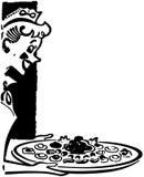 Kelnerka Słuzyć Hors D'oeuvres Zdjęcia Royalty Free