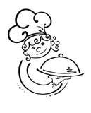 Kelnerka z tacą Fotografia Stock