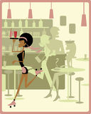 Kelnerki łyżwiarstwo Fotografia Stock