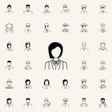kelnerki ikona Proffecions ikon ogólnoludzki ustawiający dla sieci i wiszącej ozdoby ilustracja wektor