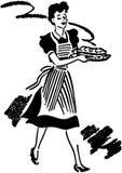 Kelnerki porci jedzenie Zdjęcia Stock
