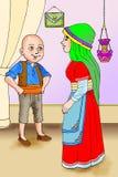 KeloÄŸlan turk Masalli royaltyfri illustrationer