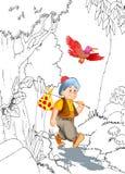 KeloÄŸlan turk Masalli stock illustrationer
