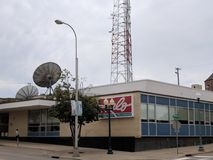 KELO TV. The television studio and offices of Keloland in downtown Sioux Falls, South Dakota royalty free stock images