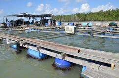 Kelong, na morzu platforma Zdjęcie Stock
