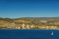 Kelowna озеро ДО РОЖДЕСТВА ХРИСТОВА - Okanagan Стоковое Фото