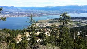 Kelowna do lago Okanagan Fotos de Stock