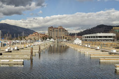 Kelowna downtown yacht club Royalty Free Stock Photography