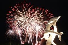 Kelowna Fireworks Stock Image