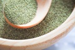 Kelp (algae) green powder Royalty Free Stock Image