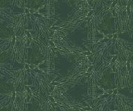 Kelp forest green overlapping. Hand drawn with ink and marker brush seamless background.Six color pallet collection Royalty Free Stock Image