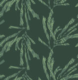 Kelp forest green with texture. Hand drawn with ink and marker brush seamless background.Six color pallet collection Royalty Free Stock Photography