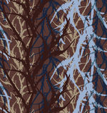 Kelp seaweed blue and brown abstract rough. Hand drawn with ink seamless background.Modern hipster style design Royalty Free Stock Images