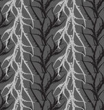 Kelp seaweed gray abstract rough. Hand drawn with ink seamless background.Modern hipster style design Stock Image