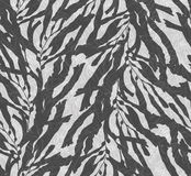 Kelp seaweed overlay on black and white texture. Hand drawn with ink seamless background.Modern hipster style design Stock Photography