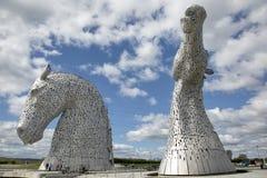 Kelpie rzeźby w Szkocja zdjęcia royalty free