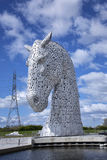 Kelpie sculpture in Scotland Royalty Free Stock Images