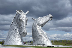 Kelpie sculptures in Scotland Royalty Free Stock Images