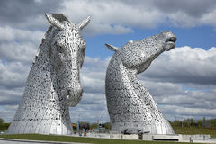 Kelpie sculptures in Scotland Royalty Free Stock Image