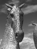 Kelpie - scultura vicino a Falkirk, Scozia Fotografia Stock