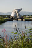 Kelpies in distance Royalty Free Stock Photo