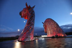 The Kelpies Falkirk Stock Photo