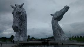 The Kelpies. In Falkirk a part of the Helix Stock Images
