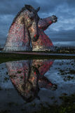 Kelpies at Forth and Clyde Canal Royalty Free Stock Images