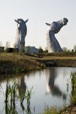 Kelpies front Stock Images