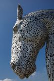 Kelpies horse. Falkirk, Scotland - 25 may 2017: Large 'Kelpie' sculpture a major tourist attraction in Scotland Stock Images
