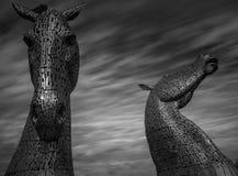 Kelpies. The kelpie sculptures in scotland Royalty Free Stock Images