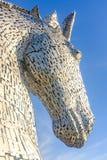 Kelpies rzeźbią Andy Scott, Falkirk, Szkocja Zdjęcia Stock