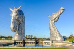Kelpies rzeźbią Andy Scott, Falkirk, Szkocja Obraz Royalty Free