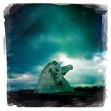The Kelpies. Sculpture Falkirk Canal Scotland Stock Photo