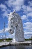 Kelpieskulptur i Skottland Royaltyfria Bilder