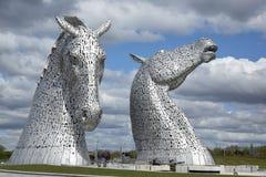 Kelpieskulpturer i Skottland Royaltyfri Bild