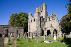 Kelso Abbey. In the Scottish Borders was founded in 1128 but fell into disuse after the Reformation. This picturesque fragment is all that remains royalty free stock photos