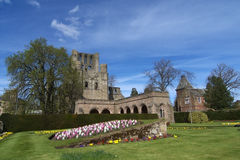 Kelso Abbey, Borders, Scotland. Kelso Abbey, Borders County, Scotland. Taken in spring stock photo