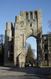 Kelso Abbey ruin. Old entrance to Kelso abbey from main street Stock Image
