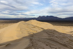 Kelso Dunes Mojave Desert. View from top of Kelso Sand Dunes wilderness area at the Mojave National Preserve in Southern California Stock Images