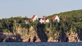 Keltic Lodge Resort. Perched atop the Middle Head Cliffs in Ingonish, Nova Scotia in the Cape Breton Highlands Stock Photography