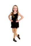 Keltisch Dansend Meisje in Ghillies Royalty-vrije Stock Foto
