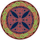 Keltisch dwarsontwerpelement Stock Afbeelding