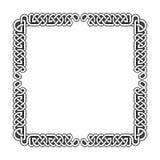 Keltisch knopen vector middeleeuws kader in zwart-wit royalty-vrije illustratie