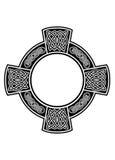 Keltisch kruis met kader Stock Afbeelding