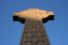 Keltisch kruis in Necropool Glasgow Stock Foto